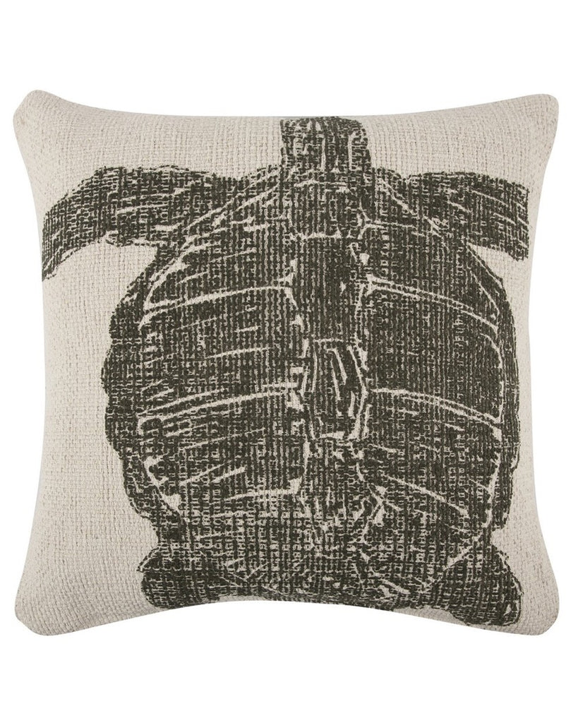 Turtle Sketch Accent Pillow