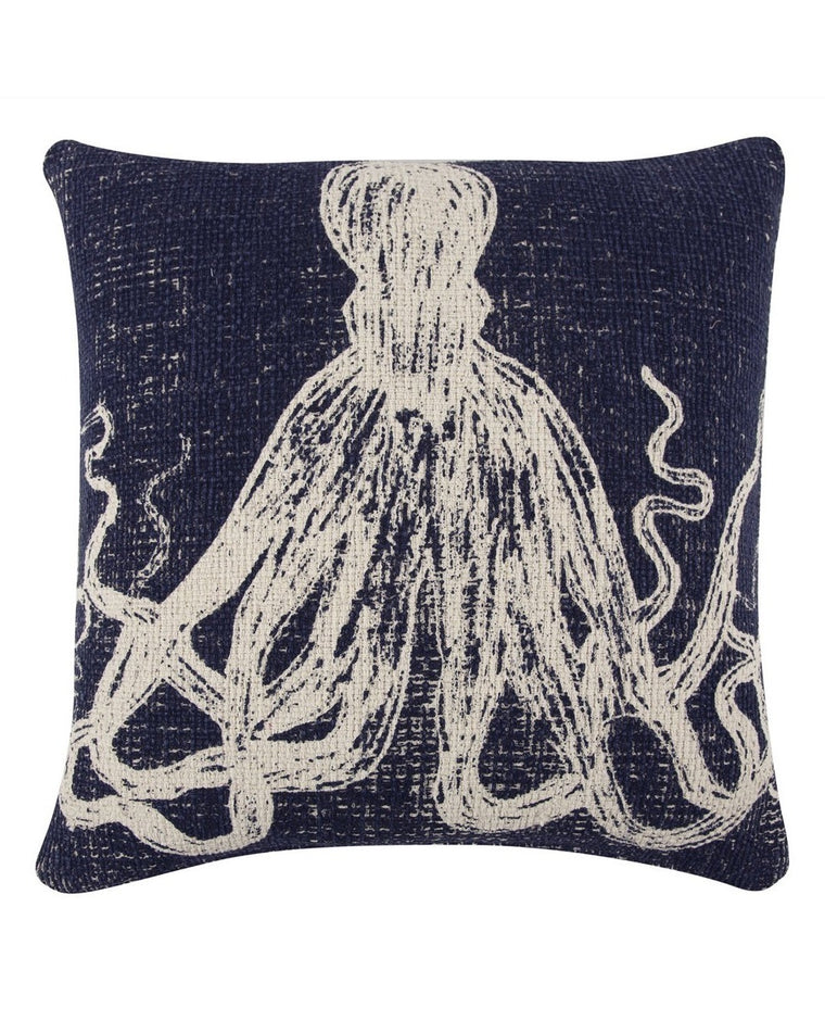 Octopus Sketch Accent Pillow