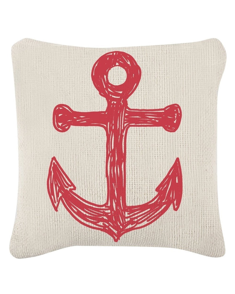 Anchor & Flag Sketch Accent Pillow
