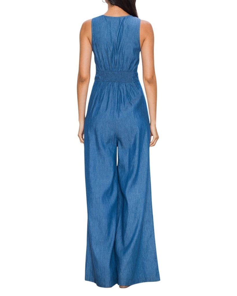 Denim Sleeveless Jumpsuit