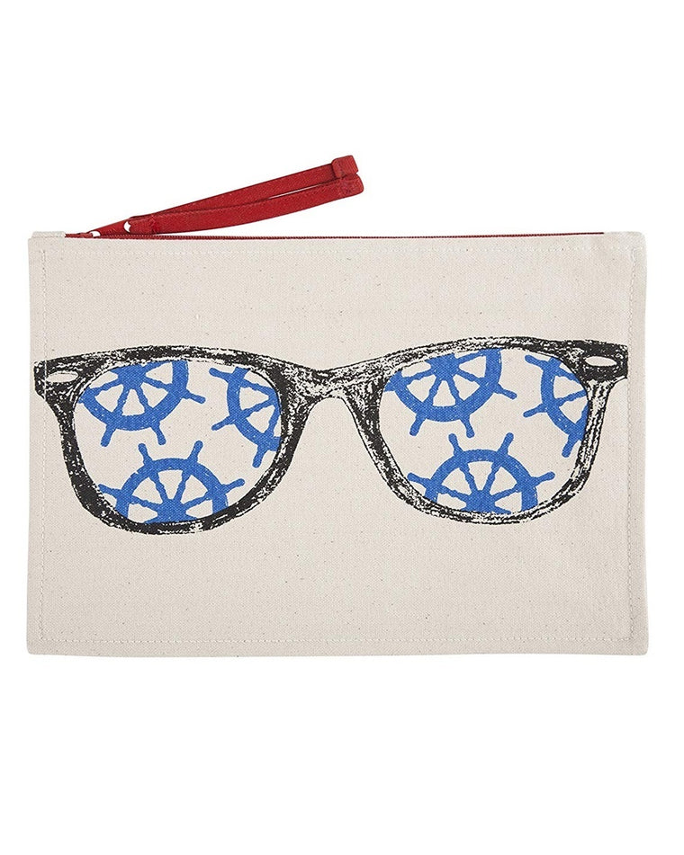 Captain's Wheel Sunglasses Canvas Pouch