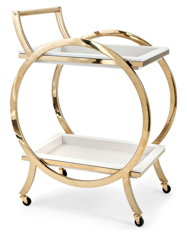 Circular Gold Bar Cart