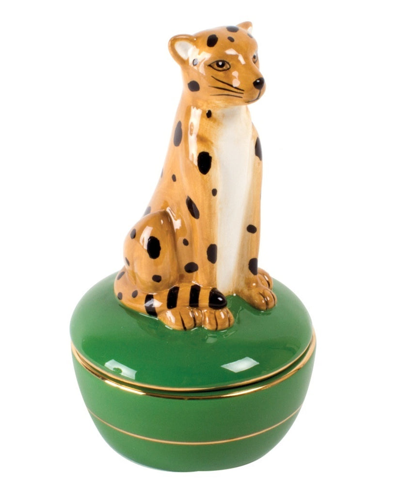 Cheetah Trinket Box