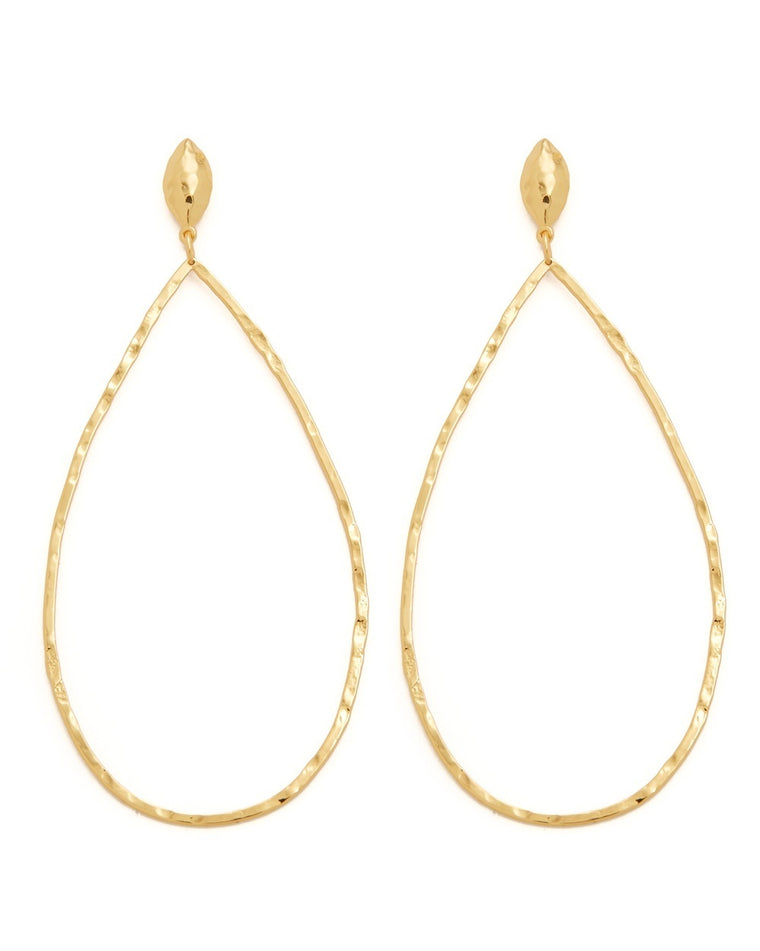 Lola Drop Hoop Earrings