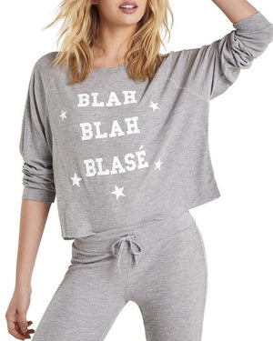 Blah Blah Blasé Thermal Crop Top