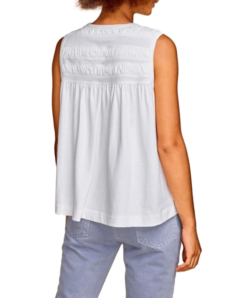 Shirred Flounce Tank Top
