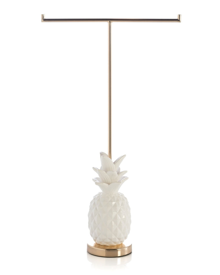 White Pineapple Jewelry T-Stand