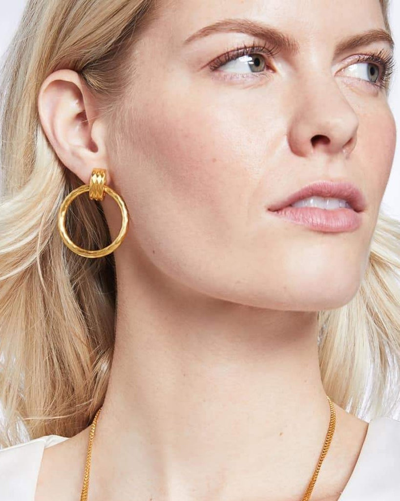 Savannah Doorknocker Clip-On Earrings