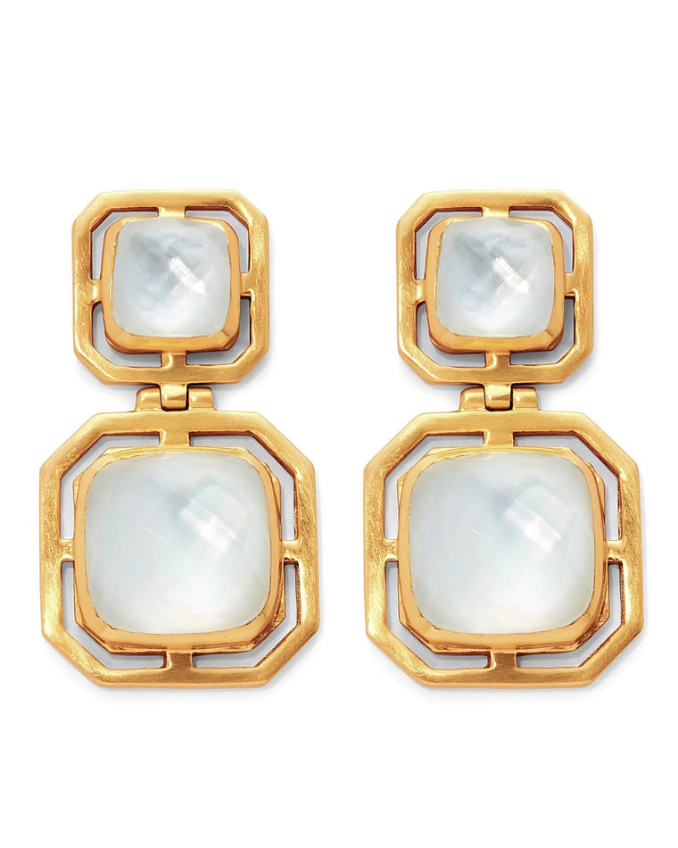 Geneva Statement Drop Clip-On Earrings