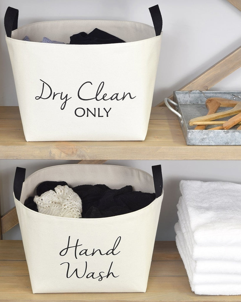 Dry Clean Only Canvas Basket