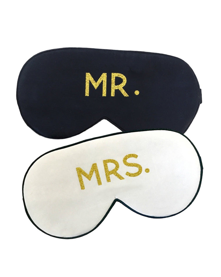 The Honeymoon Mr. & Mrs. Silk Sleep Mask Set