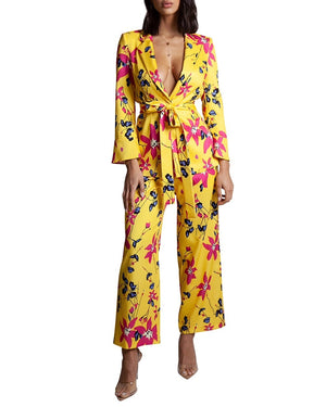 Yellow Floral Two-Piece Suit
