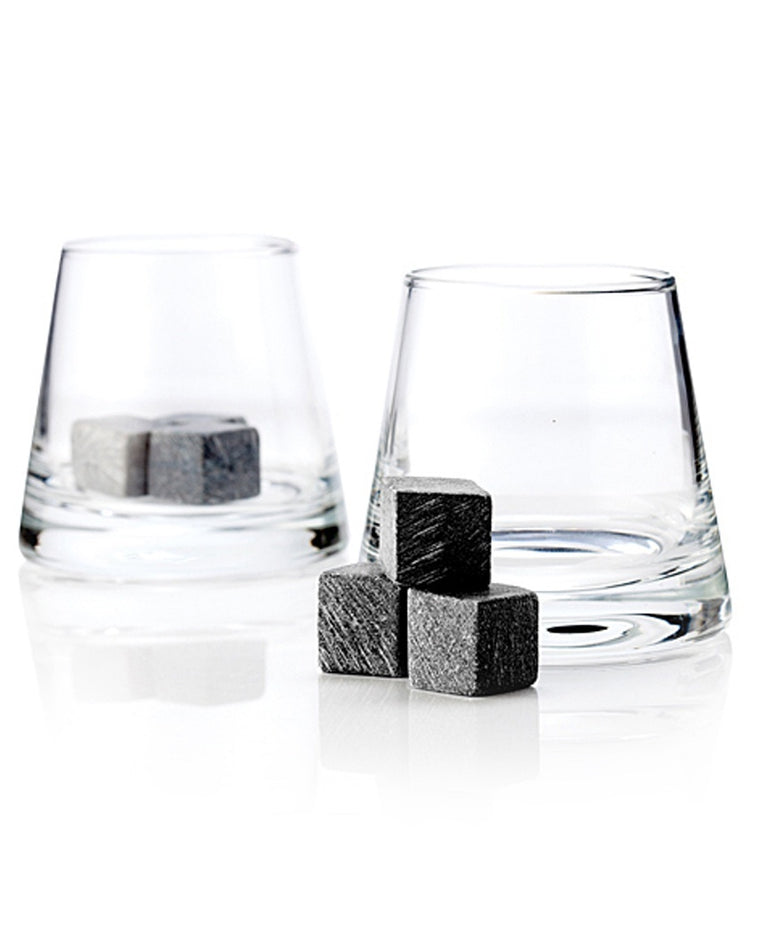 Glacier Rocks Soapstone Cube and Tumbler Set