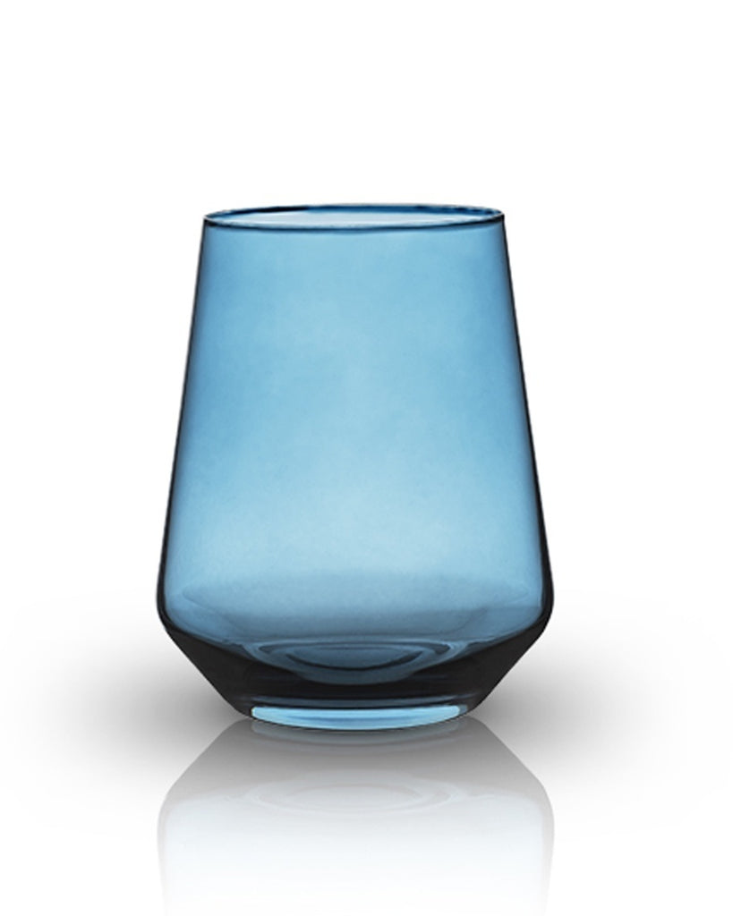 Raye Crystal Hued Tumbler Glass Set (Set of 2)