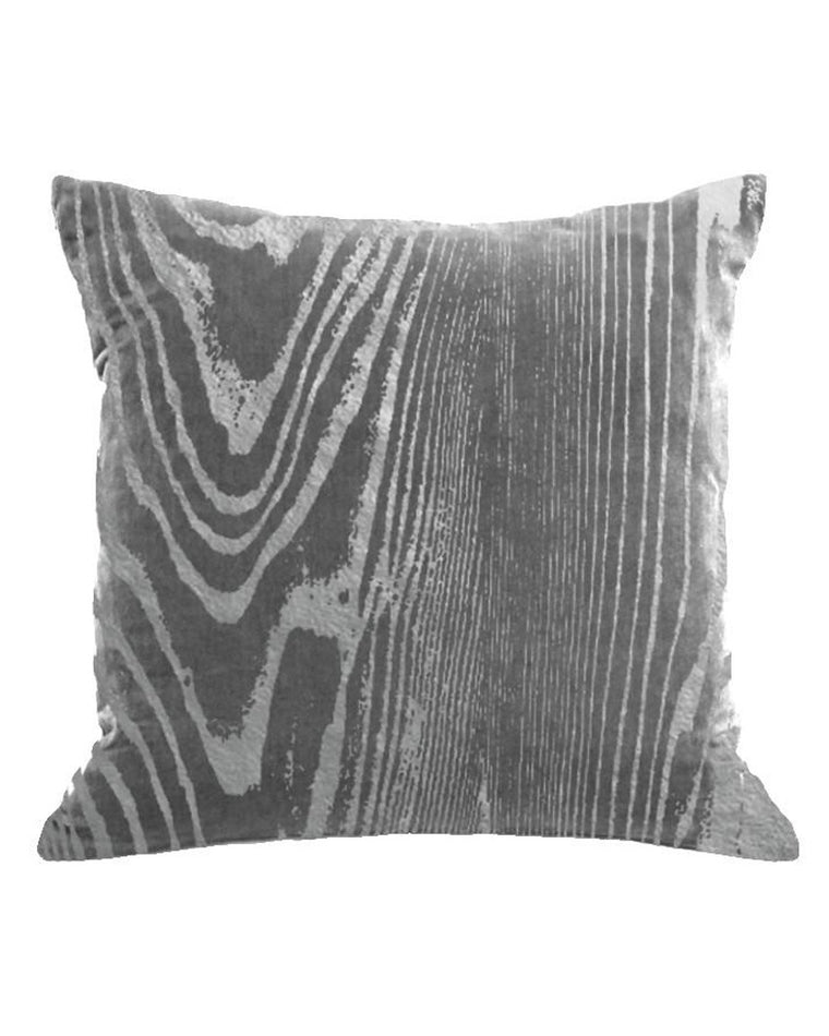 Woodgrain Velvet Accent Pillow