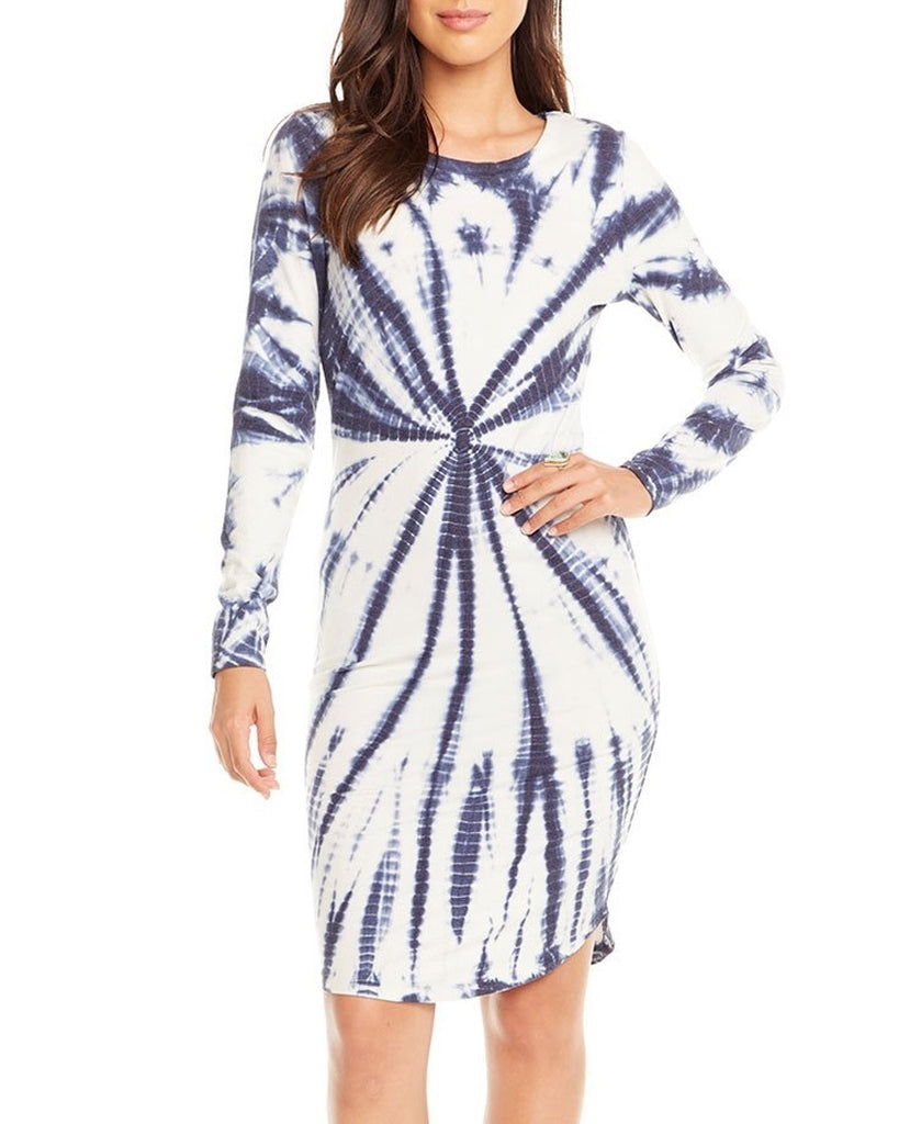 Crewneck Bodycon Shirttail Dress