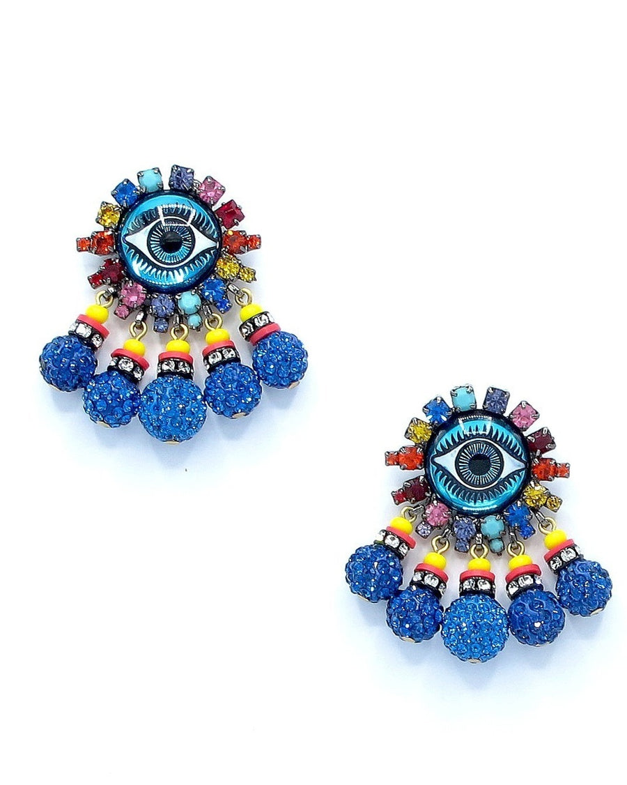 Addison Evil Eye Dangle Earrings