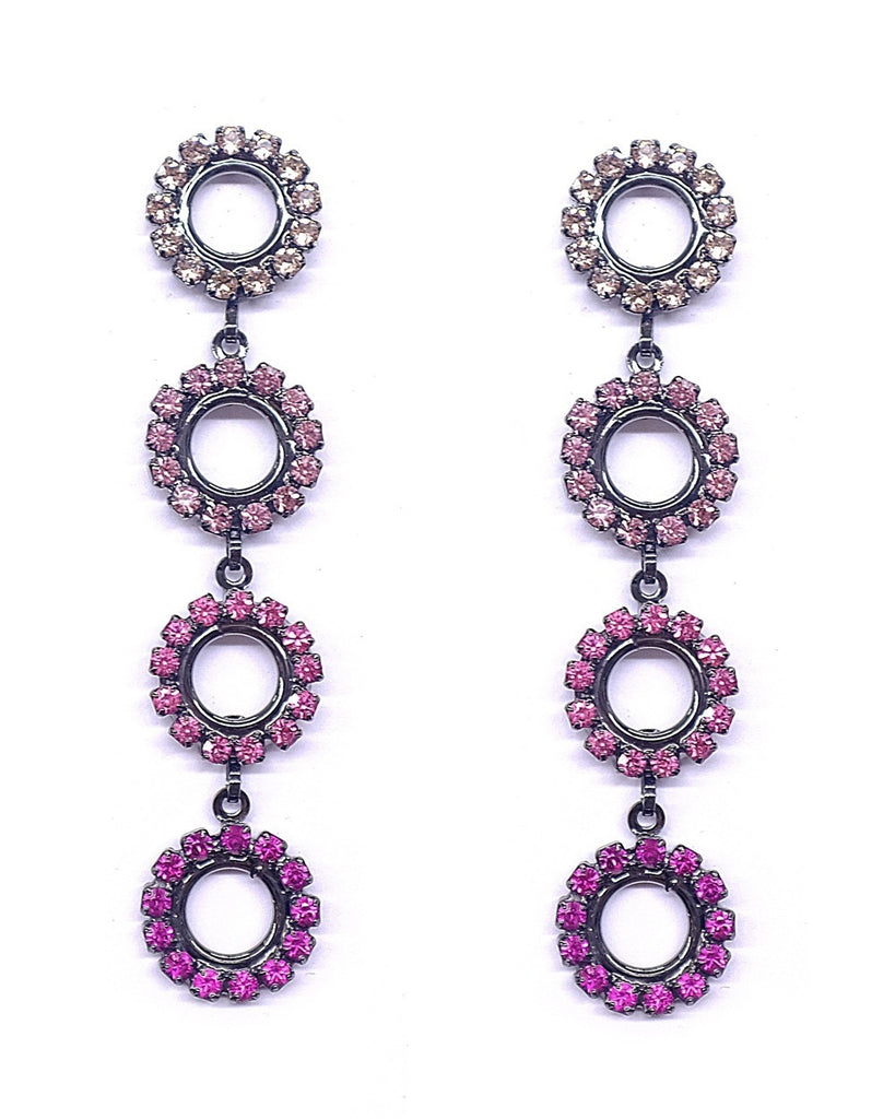 Minka Circle Drop Earrings