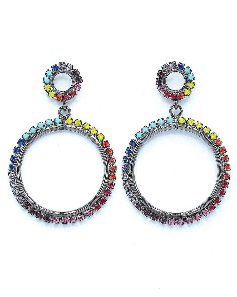 Kinsley Hoop Drop Earrings