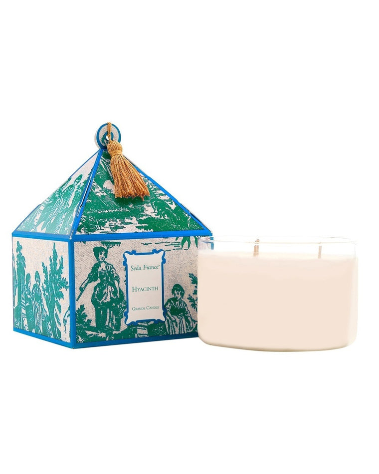 Hyacinth Classic Toile Three-Wick Candle
