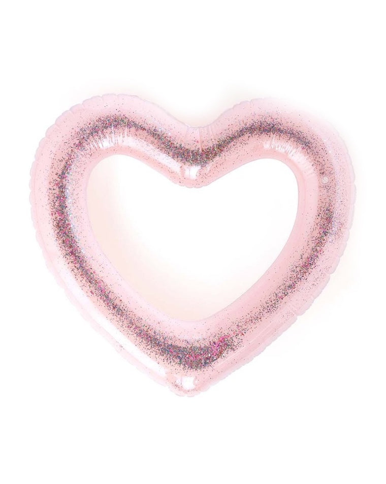 Beach Please Glitter Heart Innertube
