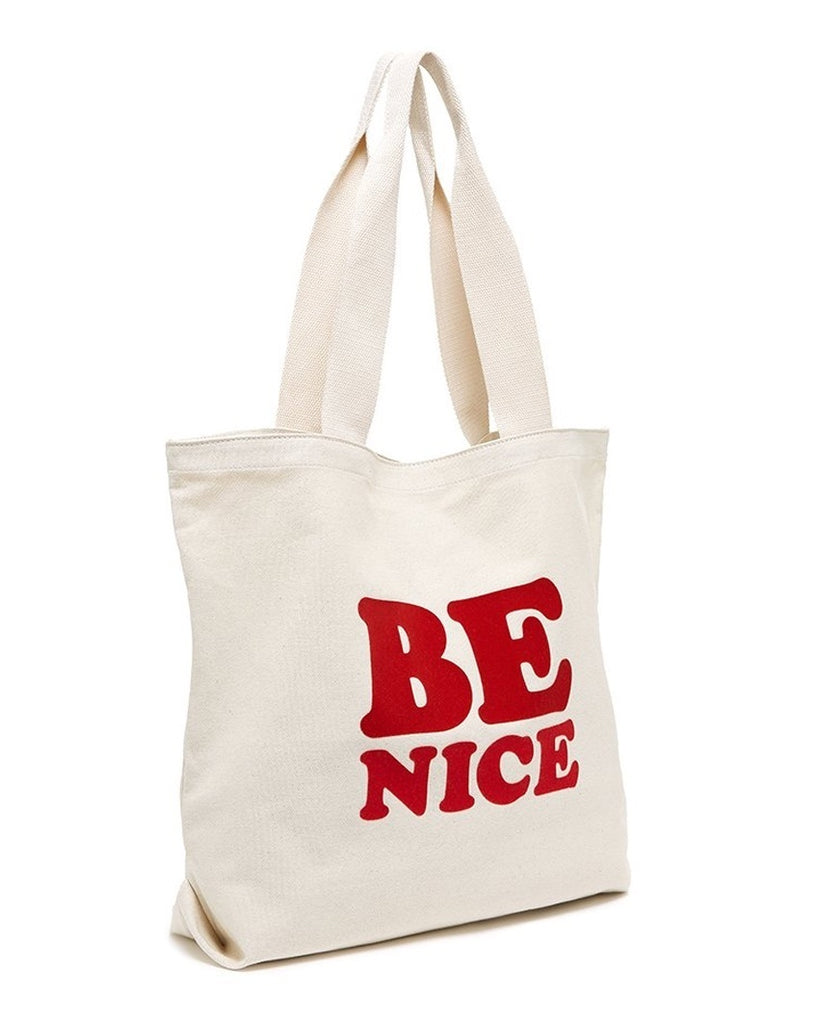 Be Nice Canvas Tote