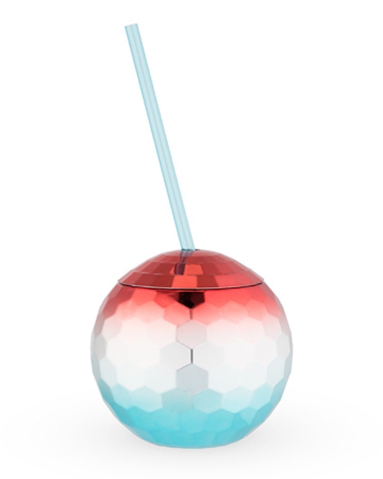 Patriotic Disco Ball Tumbler