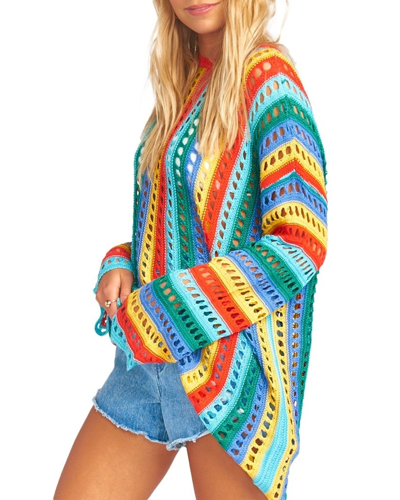 Rainbow Tropic Knit Cruz Sweater