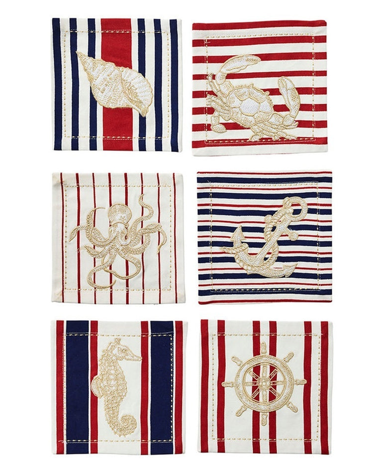 Maritime Cocktail Napkins (Set of 6)