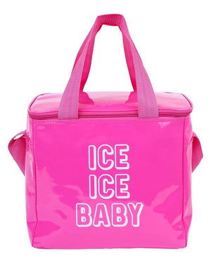 Ice Ice Baby Pink Cooler Bag