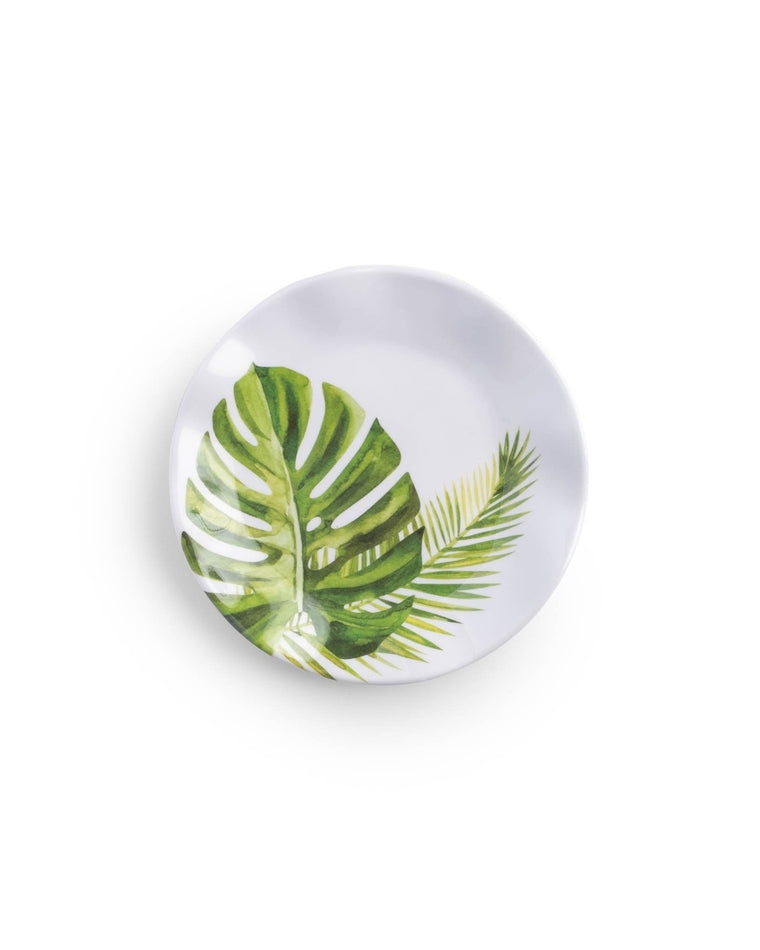 Palm Melamine Canape Plate Set (Set of 4)