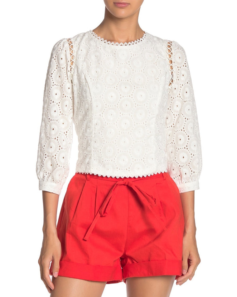 Mona Eyelet Lace Top