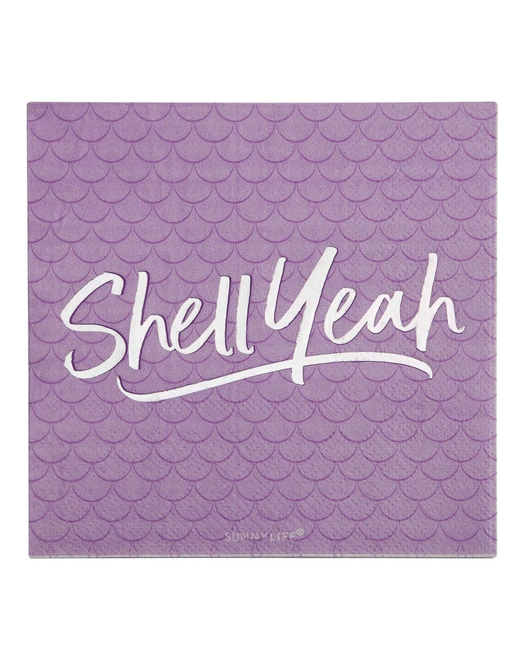 Magical Sea Shell Yeah Cocktail Napkins