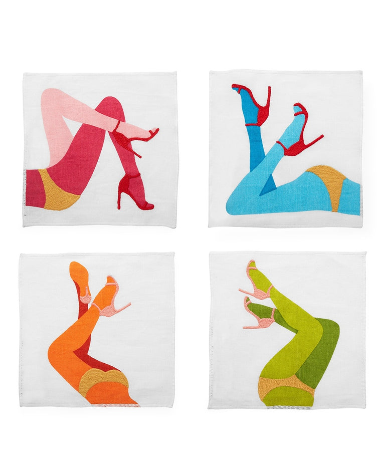 Les Girls Cocktail Napkins (Set of 4)