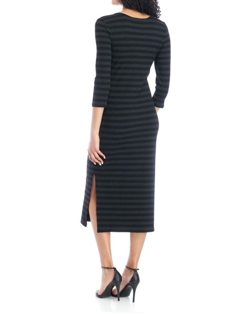 Rochelle Striped Jersey Midi Dress