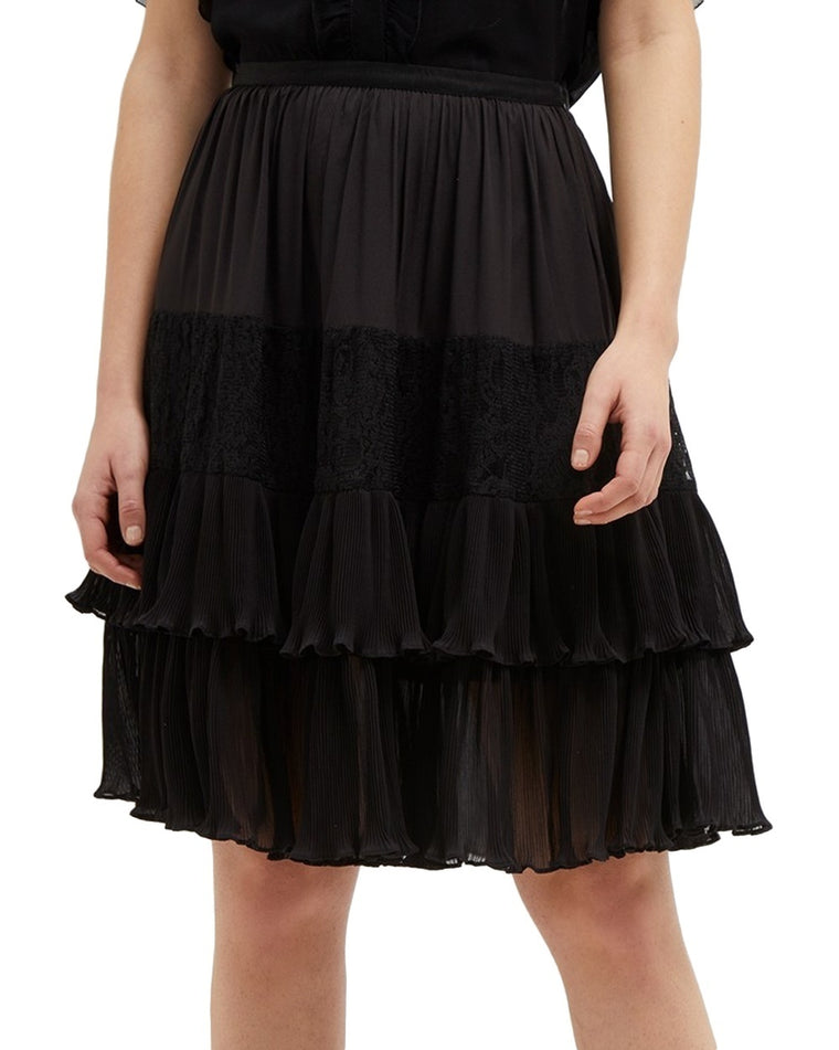 Clandre Vintage Lace Ruffle Skirt