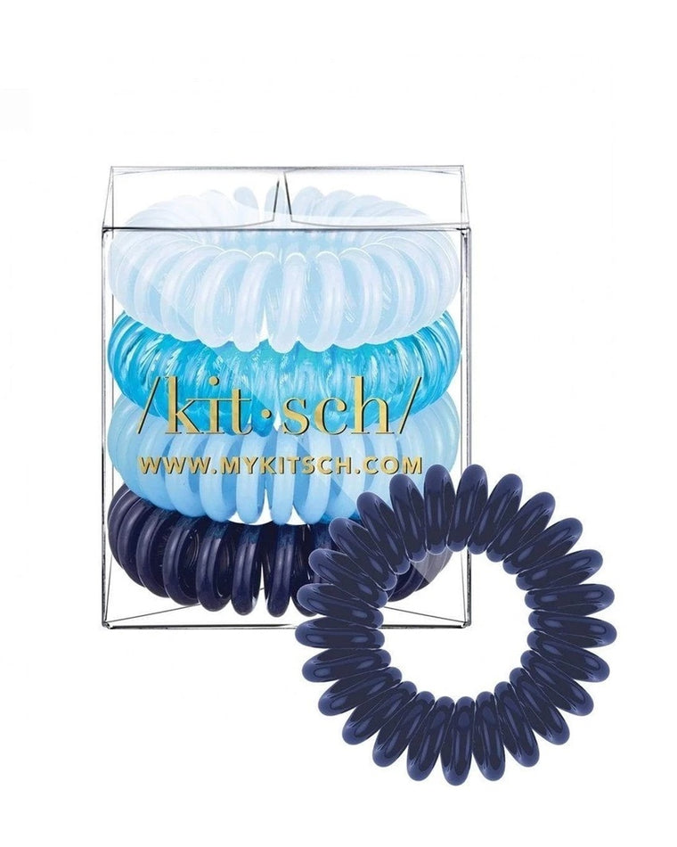 Denim Hair Tie Coils (Set of 4)