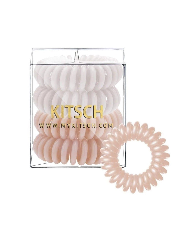 Nude Hair Tie Coils (Set of 4)