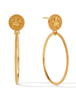 Coin Statement Earrings