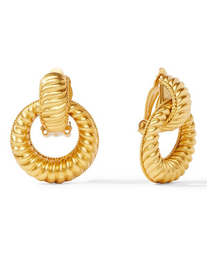 Olympia Doorknocker Clip-On Earrings