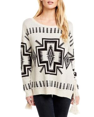 Trading Blanket Lace-Up Sweater