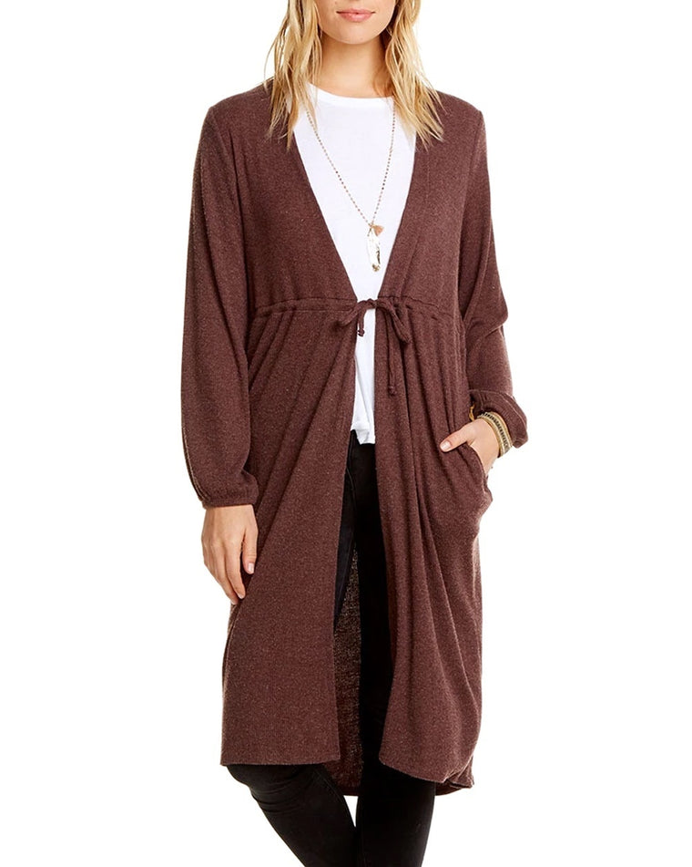 Love Ribbed Tie-Front Robe Cardigan