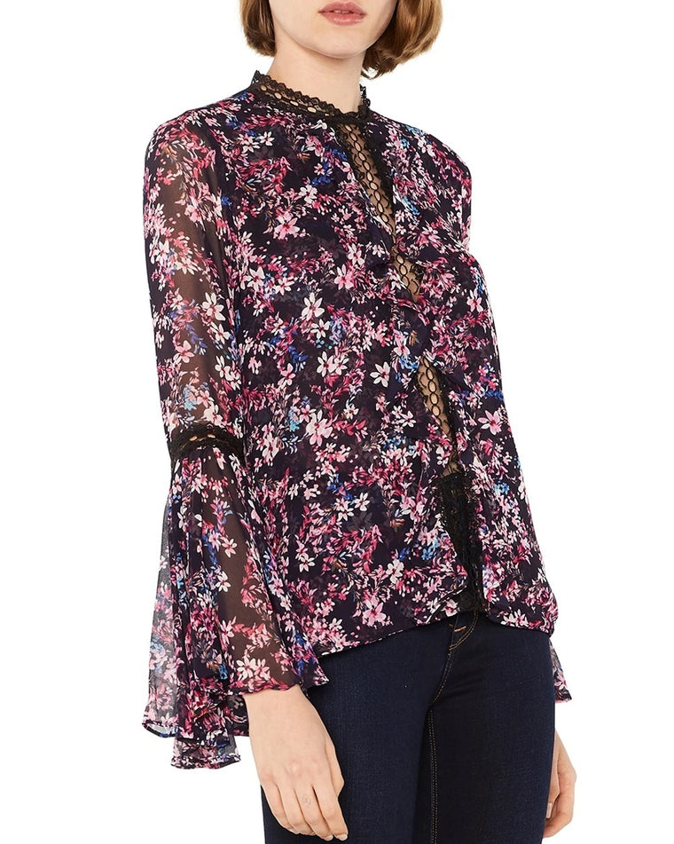 Divya Floral Bell Sleeve Top
