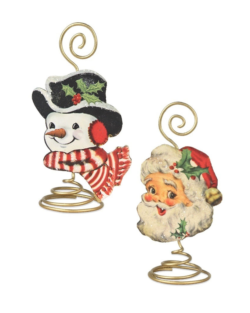 Retro Christmas Placecard Holders (Set of 2)