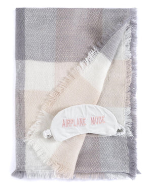 Airplane Mode Blanket Scarf and Eye Mask Set