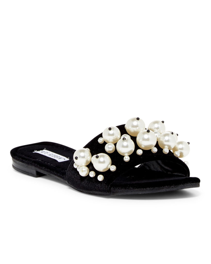 Toast to Life Pearl Embellished Velvet Sandals