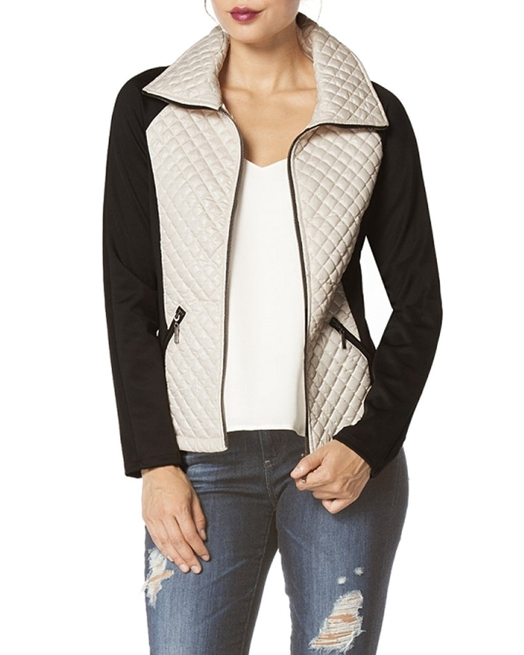 Quilted Nylon Zip-Up Jacket