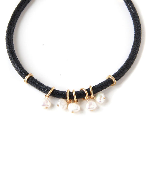 Pearl Magic Suede Choker