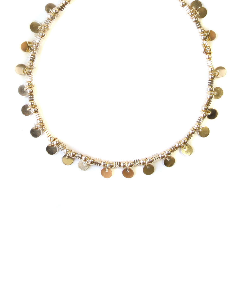 Augusta Beaded Coin Choker