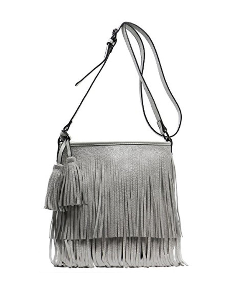 Layered Fringe Crossbody Bag